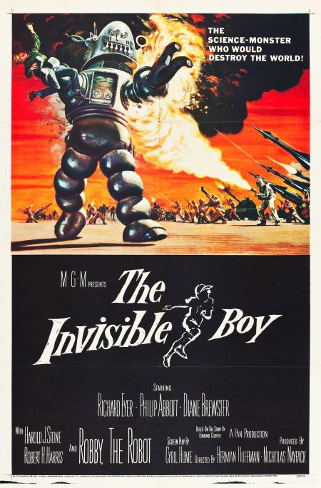 """The Invisible Boy (MGM, 1957). One Sheet (27"""" X 41"""")."""