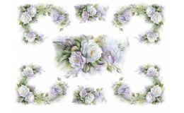 Just in! White Rose Frames Rice Paper #whiterosesricepaper, #frames, #decoupagericepaper #italianricepaper, gorgeous!