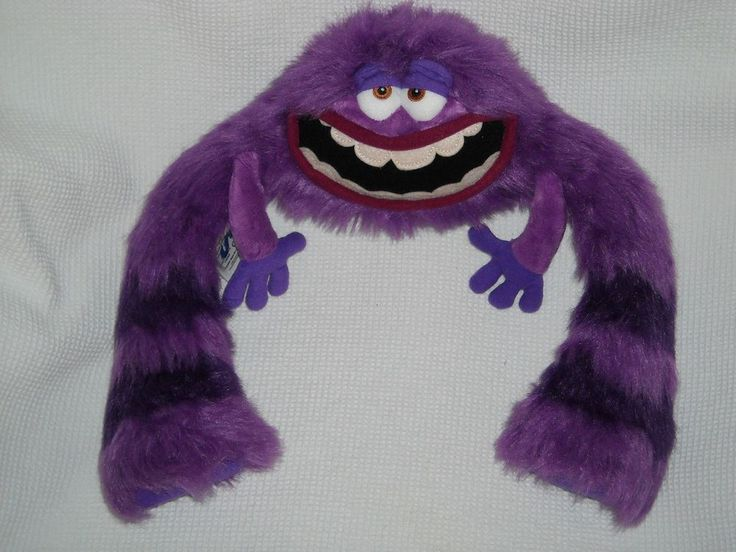 "12"" PURPLE ART Monsters University DISNEY stuffed PLUSH toy #NA"