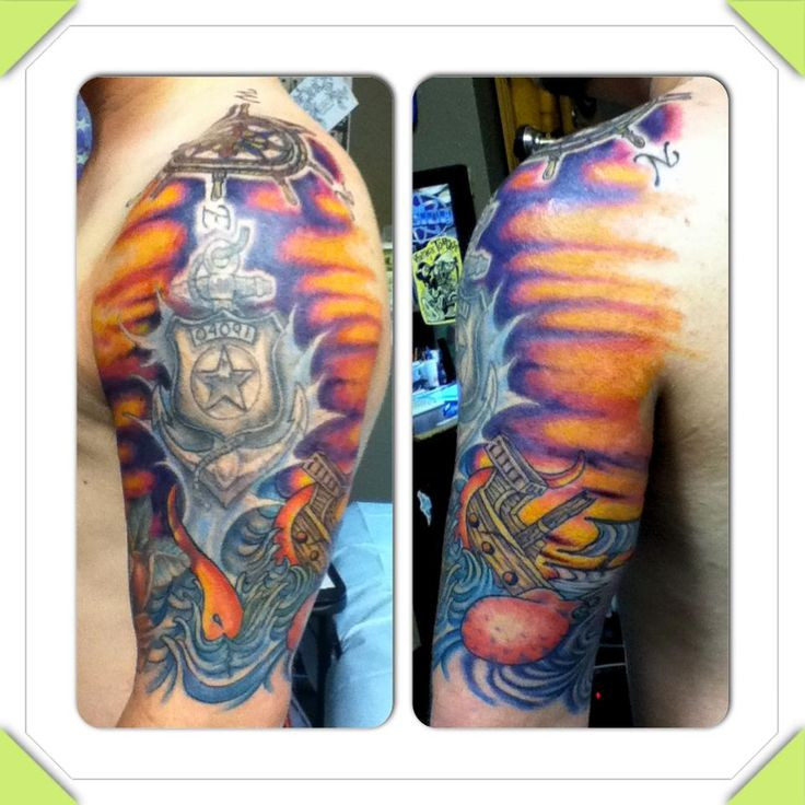 Ship Tattoo. There's some Master-at-Arms pride right there. Nice!