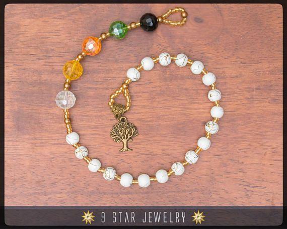 """Tree of Life"" Baha'i Prayer Beads  5 x 19 (Alláh-u-Abhá) by 9 Star Jewelry #bahai #bahaiprayerbeads #bahaijewelry"