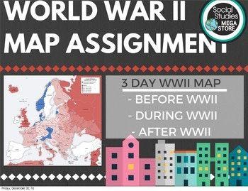 World War II Map Assignment World History. #socialstudies #worldhistory #worldwarII #tptlessons #socialstudiesmegastore