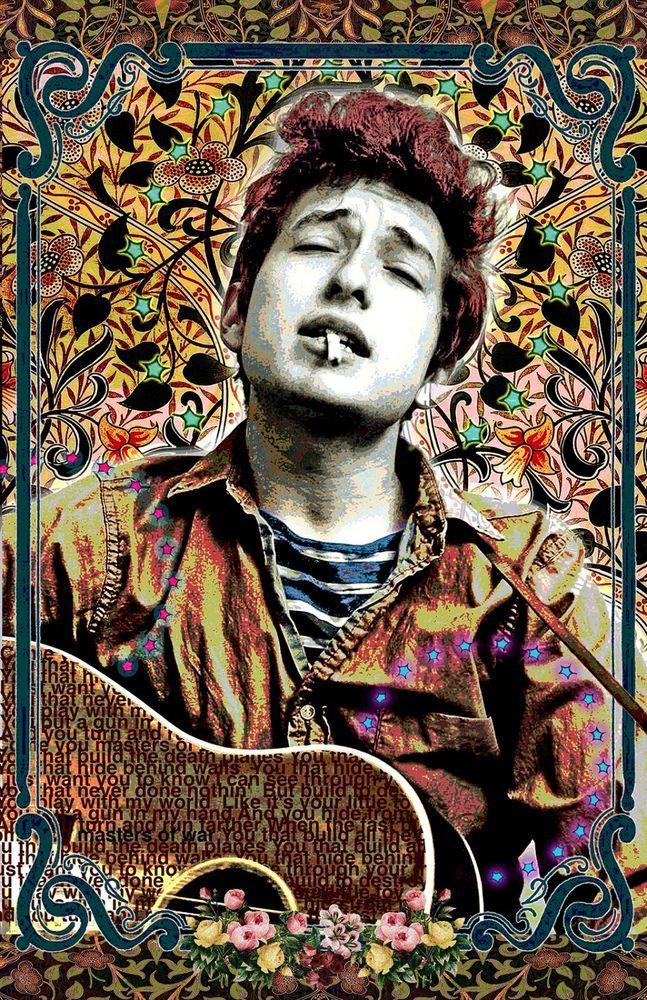Bob Dylan – vollfarbiges Poster (11 x 17) – lebendige Farben – sehr detailliert