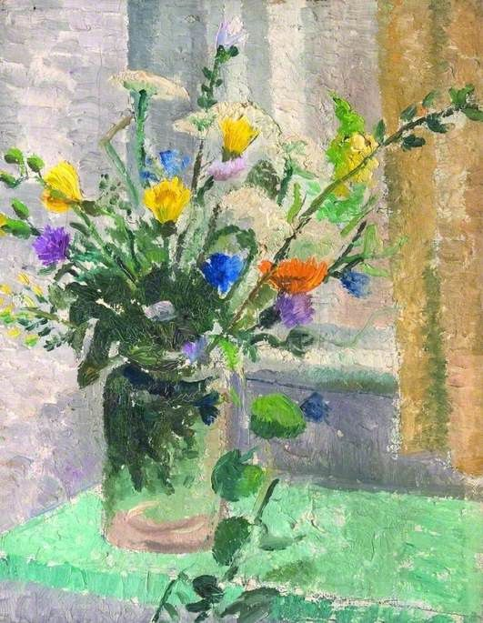 Still Life, Vase of Flowers (1926-7) by Christopher Wood, Dorset Museum