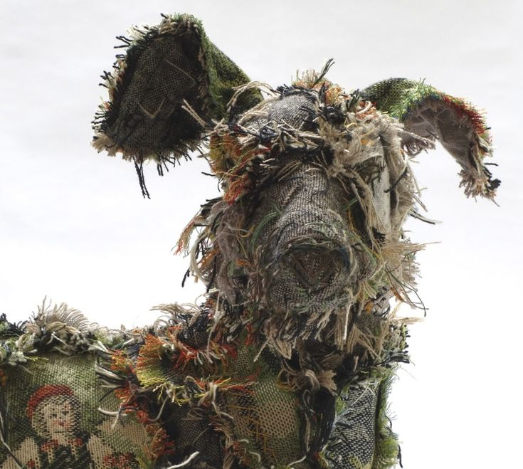 Shaggy Dog textile sculpture by Barbara Franc