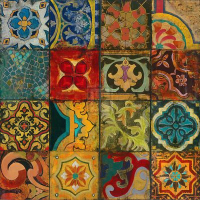mix of tiles - Handmade tiles can be colour coordinated and customized re. shape, texture, pattern, etc. by ceramic design studios