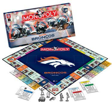 Denver Broncos party | Denver Broncos Monopoly by USAopoly