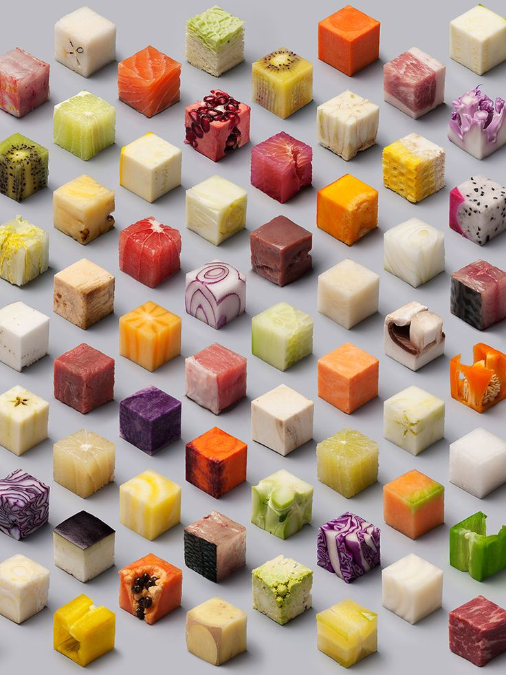 """We just can't stop looking at this. Commissioned by Dutch newspaper De Volkskrant and manifested by artist duo Lernet & Sander, """"Cubes"""" is an amazingly therapeutic photography series to get lost in. Our question is, will cubes be the next plating trend?"""
