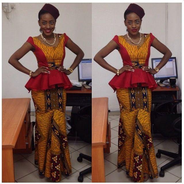 17 Best Ideas About Ankara Skirt And Blouse On Pinterest