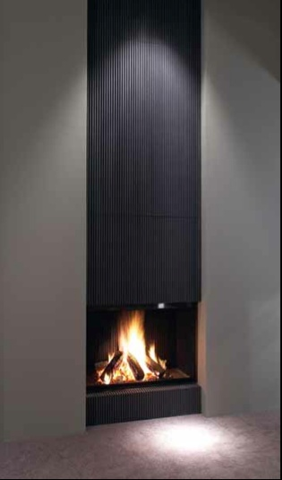 vertical fireplace metalfire