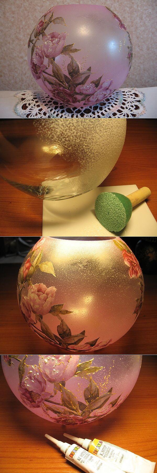Мастер-класс по изготовлению матовой вазочки.