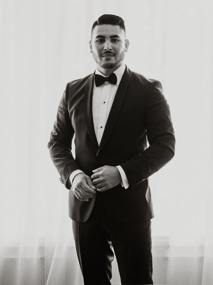 Handsome groom in tuxedo; PHOTOGRAPHY Joel + Justyna Bedford, destination wedding photographers