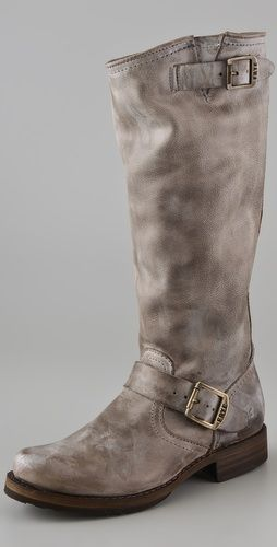 Frye slouch boots in gray