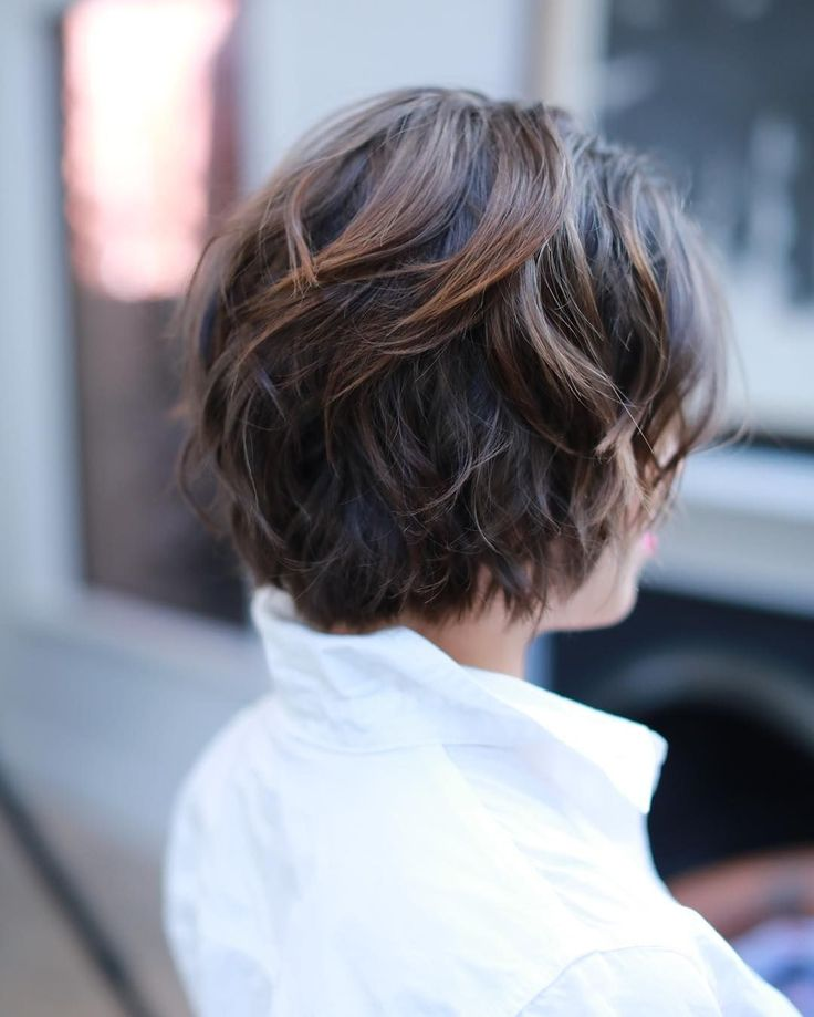 This soft shaggy bob is perfect for those looking for something chic + low maintenance.
