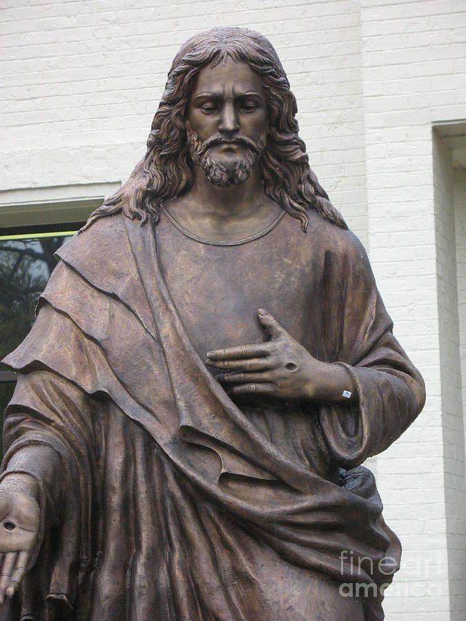 Sculpture of jesus  | Jesus Statue - Christian Art Photograph - Religious Jesus Statue ...