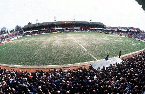 The Dell, Southampton Football Club for a match Vs West Bromwich Albion Football Club in 1979.