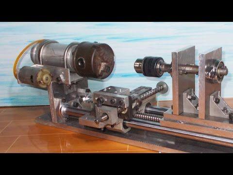 DIY Lathe Mini Lathe Homemade Lathe Machine Mini Wood How to Make Router Drill Mill CNC Tailstock - YouTube
