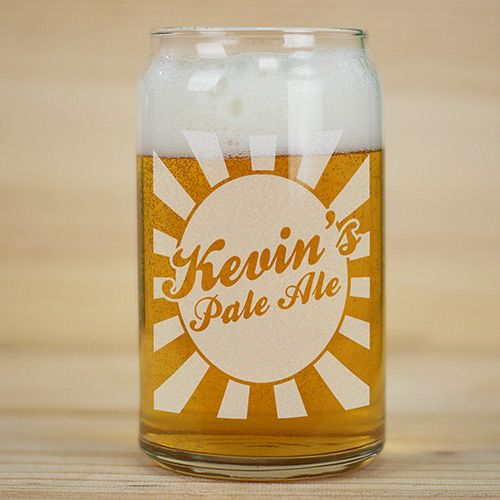 Personalized Beer Glass Can | Beer Can Glass: $9.98