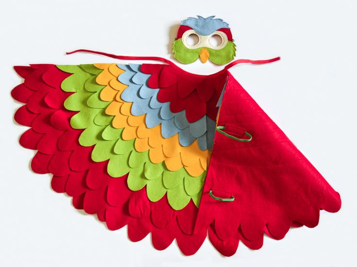 Colorful parrot costume for toddlers and young kids. Bright and fun bird costume for Halloween or Carnival. | BHB Kidstyle