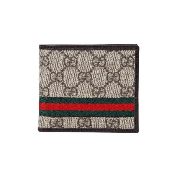 Gucci - Men's Leather Wallet SUPREME SELLERIA Purse wallet ($340) ❤ liked on Polyvore featuring men's fashion, men's bags, men's wallets, accessories, brown, purse wallet, mens brown leather wallet, mens wallets, mens leather wallets and gucci mens wallet