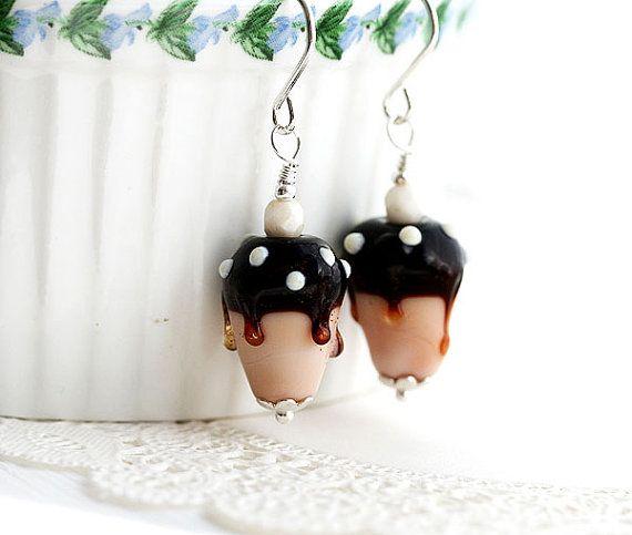 Ice cream Earrings/Ice cream Cone Earrings/ by MayaHoneyJewelry