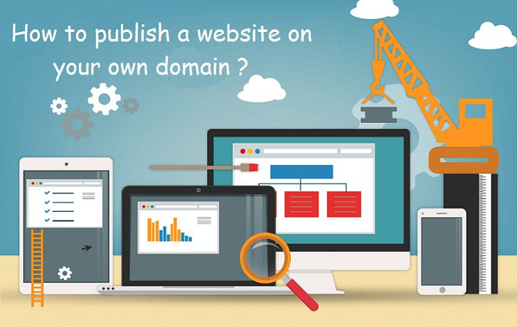 How to publish a website on your own #Domain?