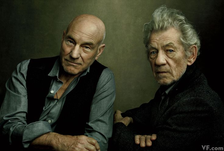 Sir Patrick Stewart and Sir Ian McKellen, photographed by Annie Leibovitz for Vanity Fair.