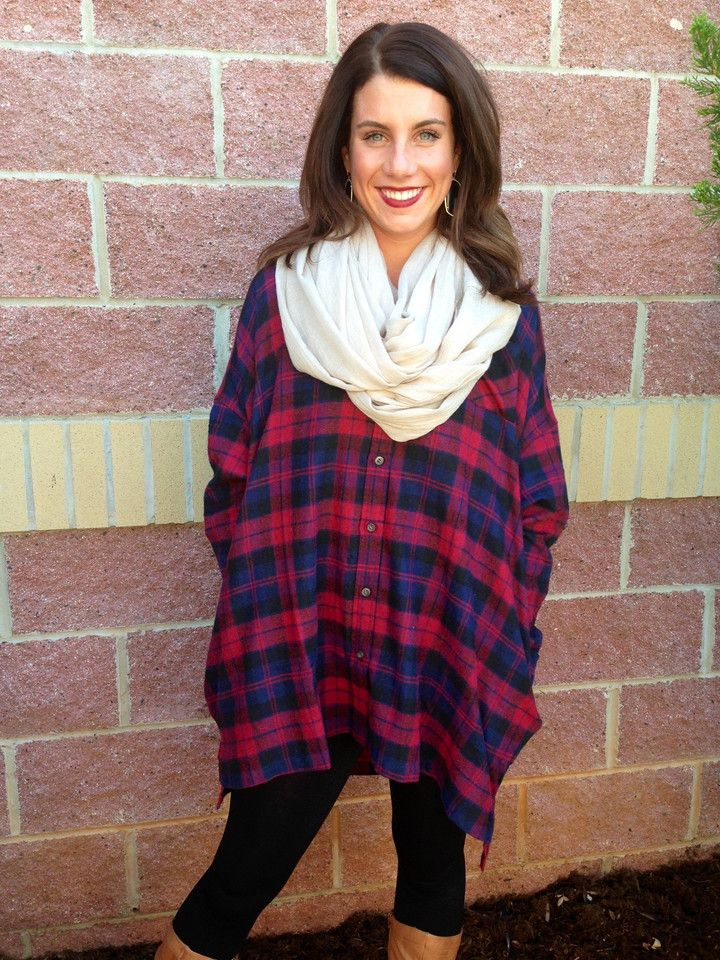 Oversized flannel top-more colors