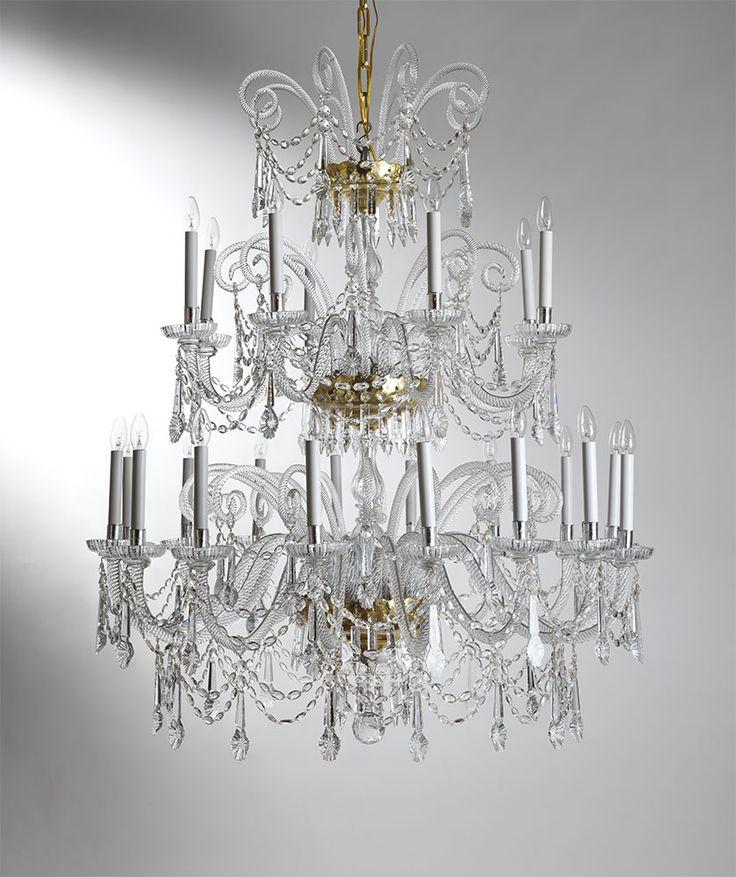 24 lights bohemian crystal chandelier. Ref. 69/24