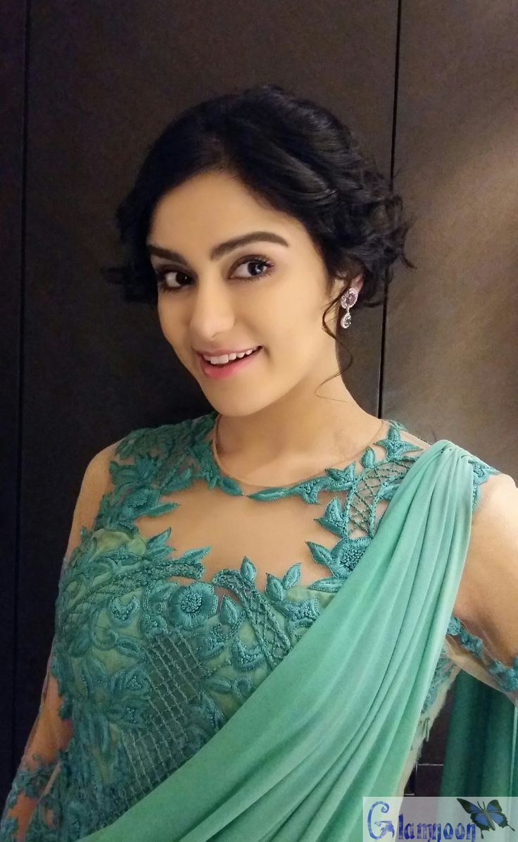 Adah Sharma Hot Photoshoot for Blue Saree