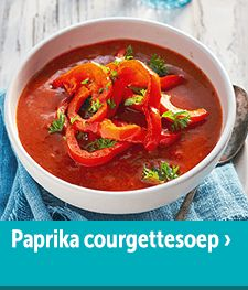 Paprika-Courgettesoep