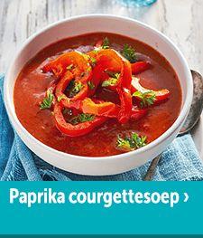Paprika-Courgettesoep