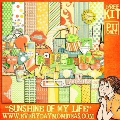 """Каждый день мама идеи: """"солнце моей жизни"""" бесплатно цифровой скрапбукинг!"""