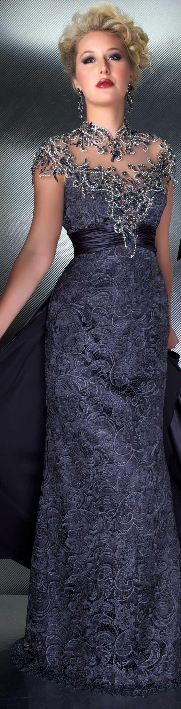 Mac Duggal couture  Charcoal COUTURE DRESSES  STYLE 80168D