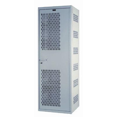 "Hallowell Welded 1 Tier 1 Wide High Security Locker Size: 72"" H x 18"" W x 22"" D"