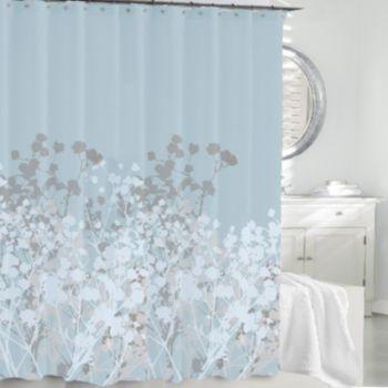 Kassatex Willow Fabric Shower Curtain