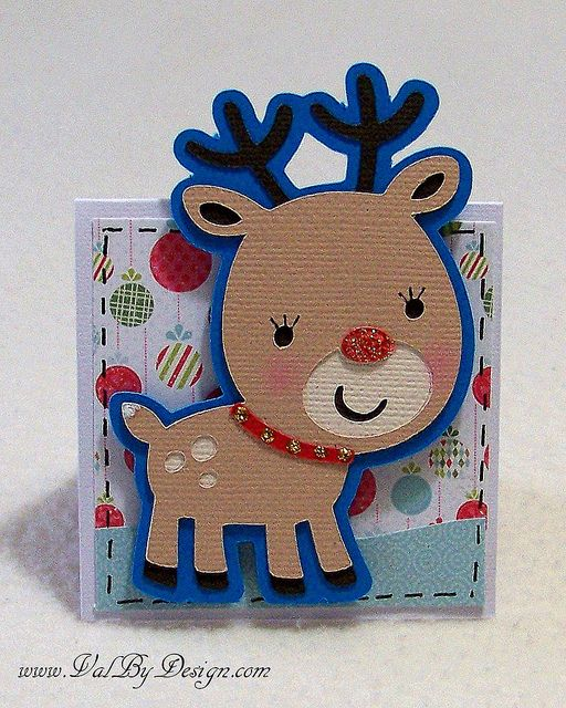 Holiday mini with the Cricut & Create a Critter 2 by Val By Design, via Flickr
