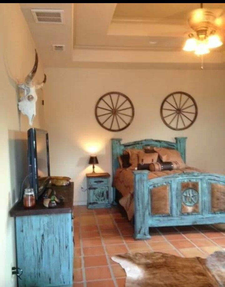 1258 best western decor images on pinterest for Cowboy themed bedroom ideas