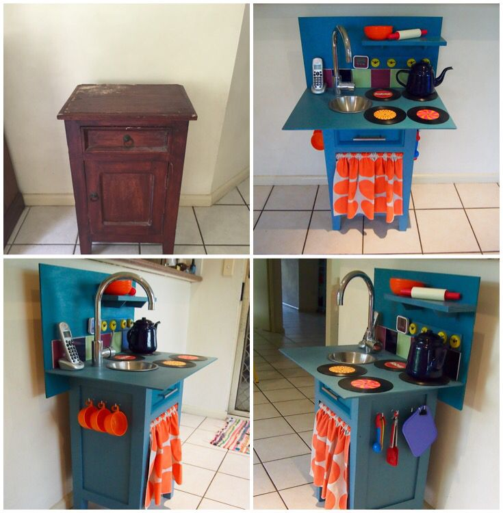 DIY Kids Play Kitchen. Before And After