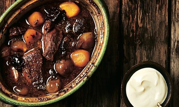 Photograph of Yotam Ottolenghi's beef stew with pale ale, juniper and prunes