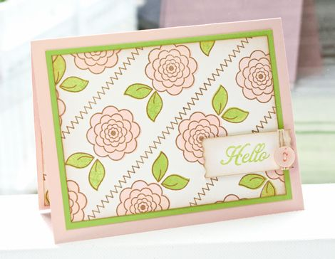 Poppy PaperieRose Stamps, Hello Pink, Pink Roses, Cardmaking Gallery, Pink Edging, Gallery Originals, Lisa Johnson, Cards Cards, Johnson Sweets