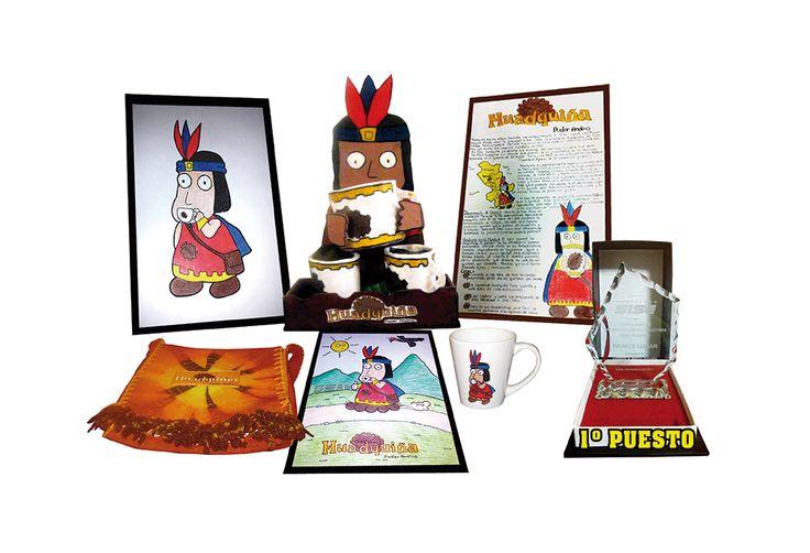 PROPUESTA GANADORA Concurso de campañas gracas para el lanzamiento del nuevo café Cusqueño HUADQUIÑA. (Diseño de mascota, Ache, Display con muestra del producto, Infograa y merchandising).