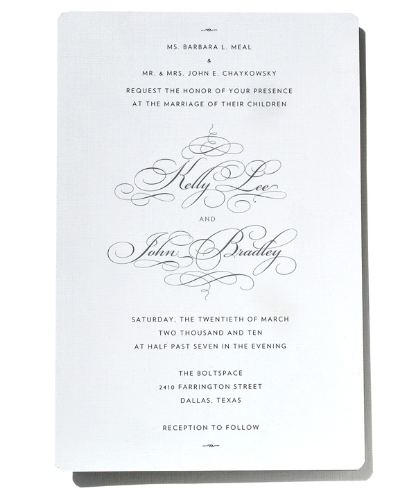 Our Wedding Invitations by J.B. Chaykowsky, via Behance