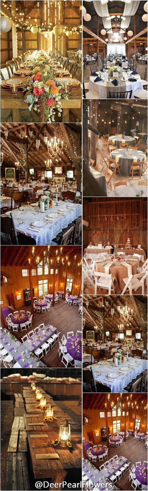 Uncategorized/outdoor vintage glam wedding rustic wedding chic - 30 Barn Wedding Reception Table Decoration Ideas