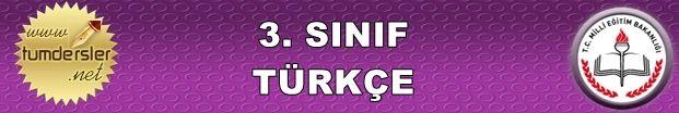 Türemiş Sözcükler Çalışma Sayfası 3. Sınıf Türkçe | Tüm Dersler