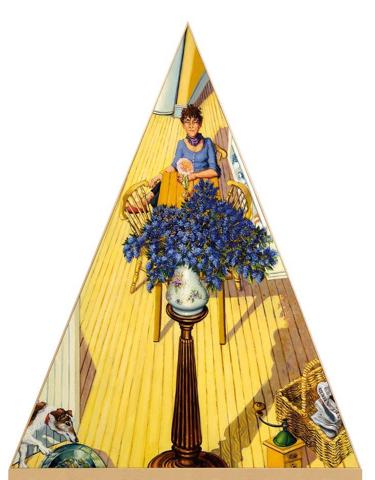 Anthony Green - RA 'A Vase of Ceanothus'