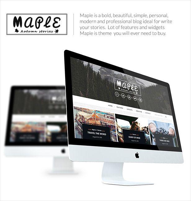 Maple - Responsive WordPress Blog Theme - WordPress | ThemeForest