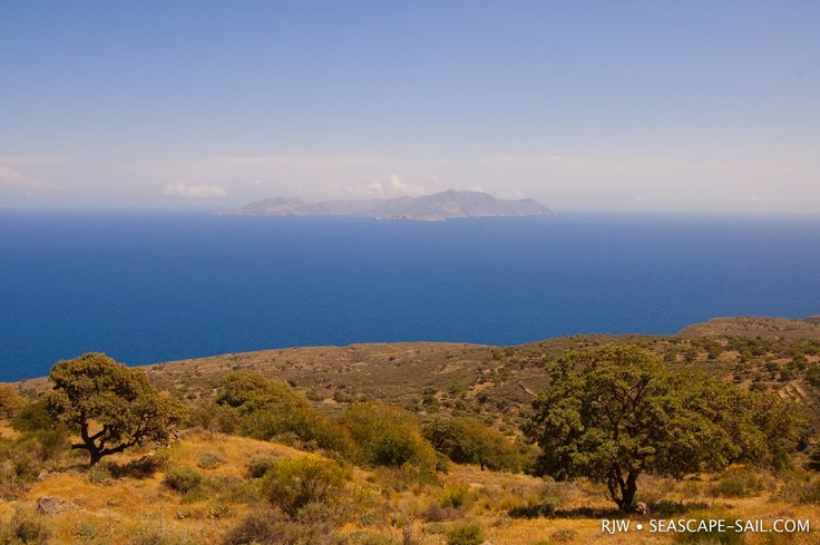 VISIT GREECE| #Tilos #Dodecanese #islands #Greece #View from #Nisyros island to Tilos.