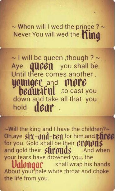 Complete Cersei's prophecy
