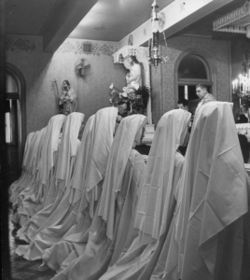 nuns at altar from a 1944 Lifefeature on Carmelite nuns taking their vows